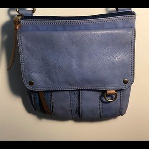 Fossil Leather Crossbody Travel Bag / Purse